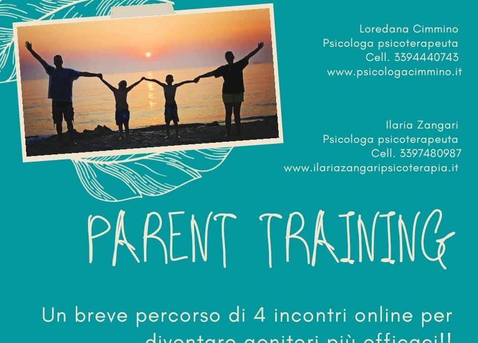 Corso online di PARENT TRAINING